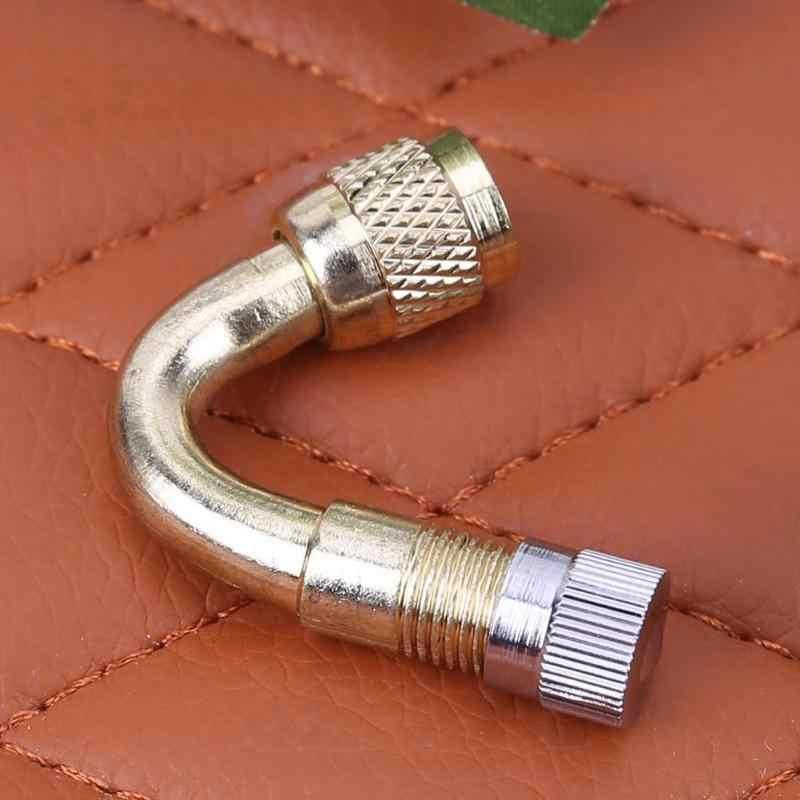 Samochód motocykl metalowy mosiężny wkładka do wentyla opony przedłużenie nadmuchiwanej rury przedłużającej Adapter części do pompowania opon