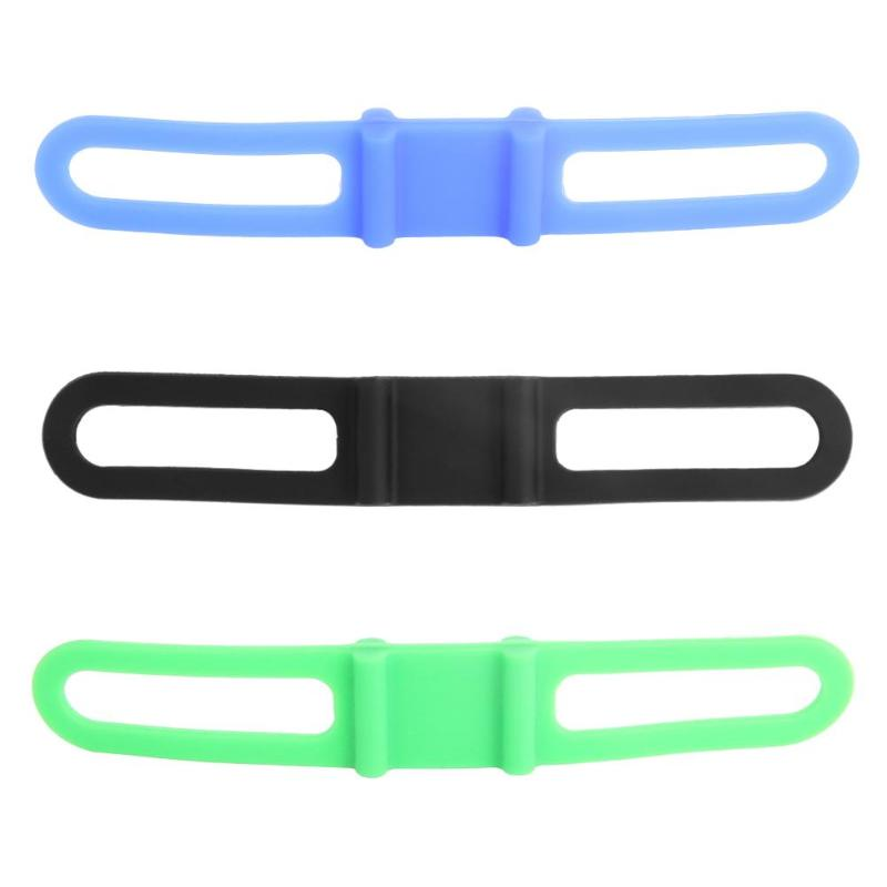 Silicone Strap Bandage Bike Handlebar Torch Bands Bicycle Light Mount Holder Cycling Flashlight Clip Bike Accessories