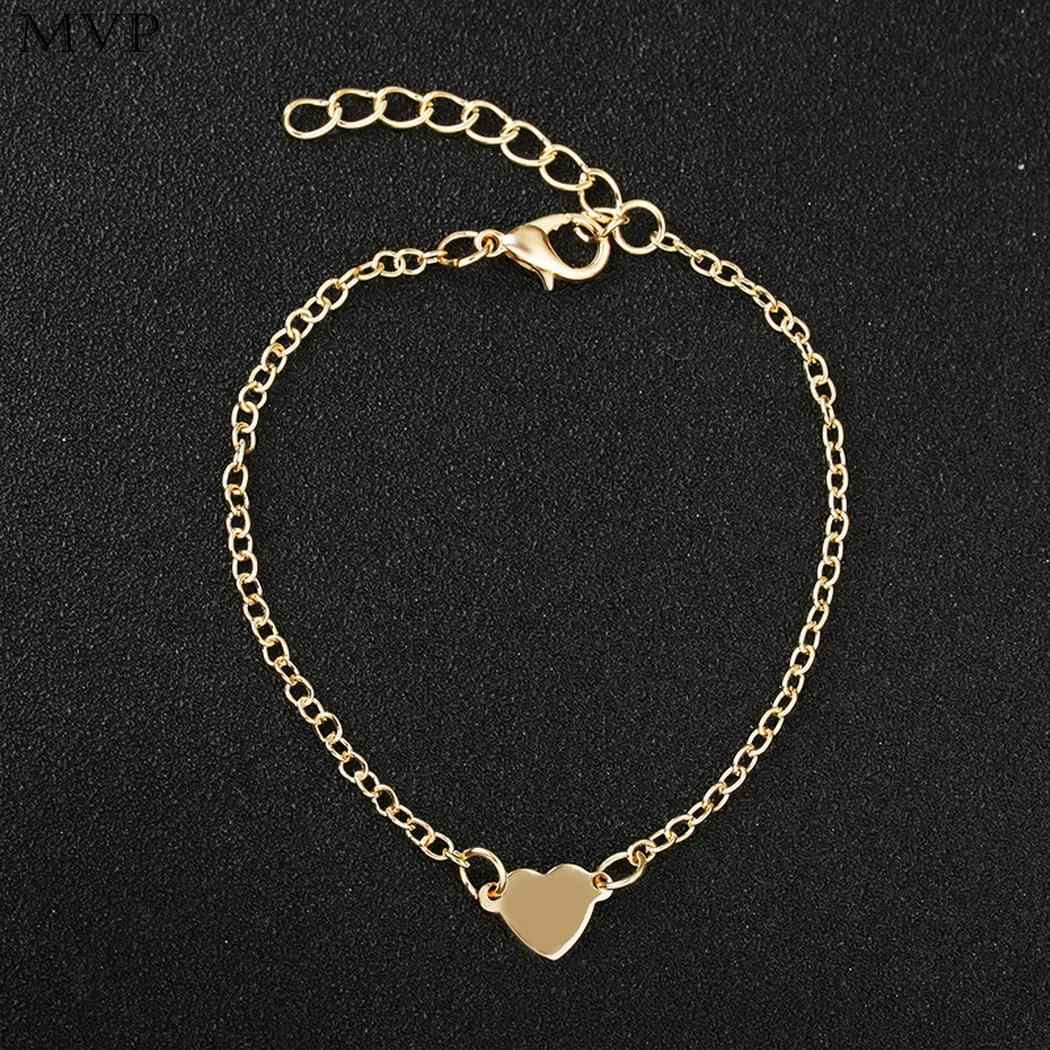 2cm 4 Fashion Dating Women Heart Jewelry Bracelet Hook Party Banquet 1 Personality Daily Pendant 7inch Gift Shape