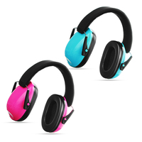 Safurance 1 pc 블랙/핑크 키즈 귀 muffs 청력 보호 소음 감소 어린이 귀 수비수 안전 이어폰