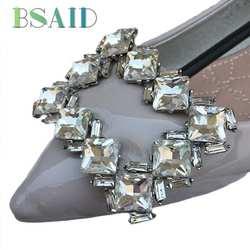 """BSAID кристалл украшения для обуви Винтаж со стразами Подвеска """"Туфля"""" аксессуары Зажимы для обуви для Туфли без каблуков на высоком каблуке"""
