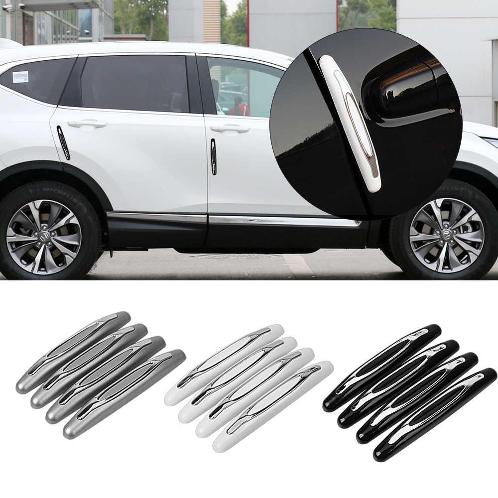 4 [Mobil Anti Tabrakan Strip Car Door Guard Pelindung Pintu Hiasan Tepi Penjaga Styling Moulding Anti Gores stiker