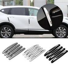 4 peças/pacote carro anti colisão tira porta do carro guarda protetor de porta borda da porta guarnição guarda estilo moldagem anti risco adesivo