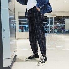 Новинка года; сезон осень-зима; повседневные брюки в Корейском стиле в клетку и стиле пэчворк; свободные брюки полной длины для студентов