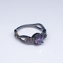 18K Gold Diamond Ring for Women Purple Black Obsidian Anillos Ruby topaz Bizuteria Agate Diamante Peridot 925 fine jewelry