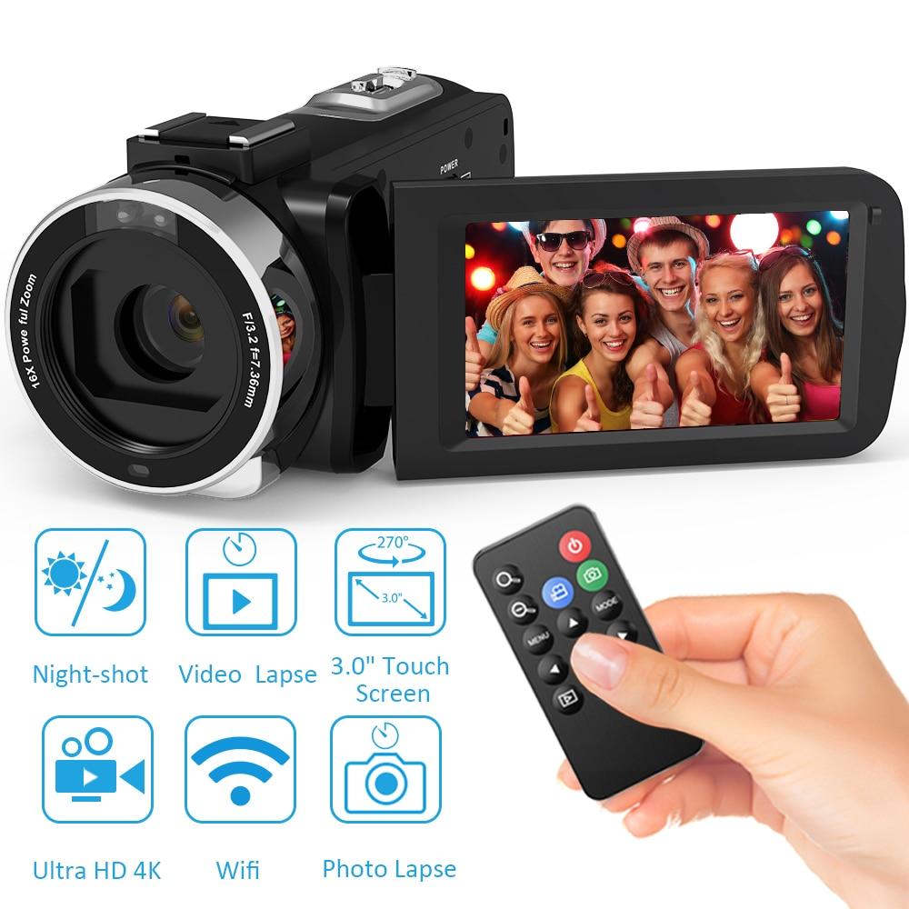 Andoer 4K Ultra HD WiFi Digital Video Camera Camcorder Recorder 16X Zoom 3.0
