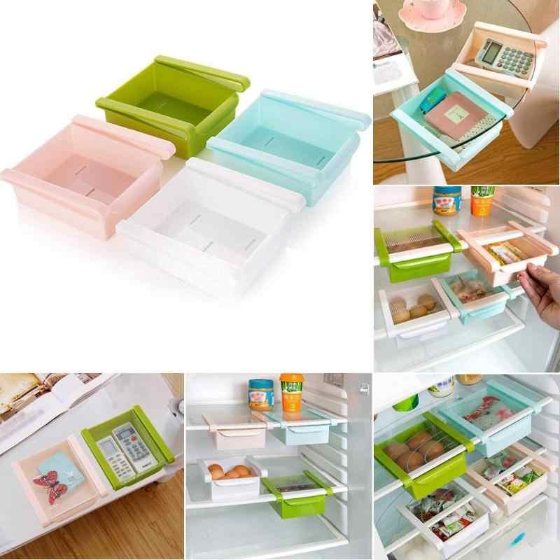 Lodówka do oszczędzenia miejsca półka uchwyt na półkę lodówka wysuwana szuflady do przechowywania żywności owoce warzywa schowek kuchnia organizator