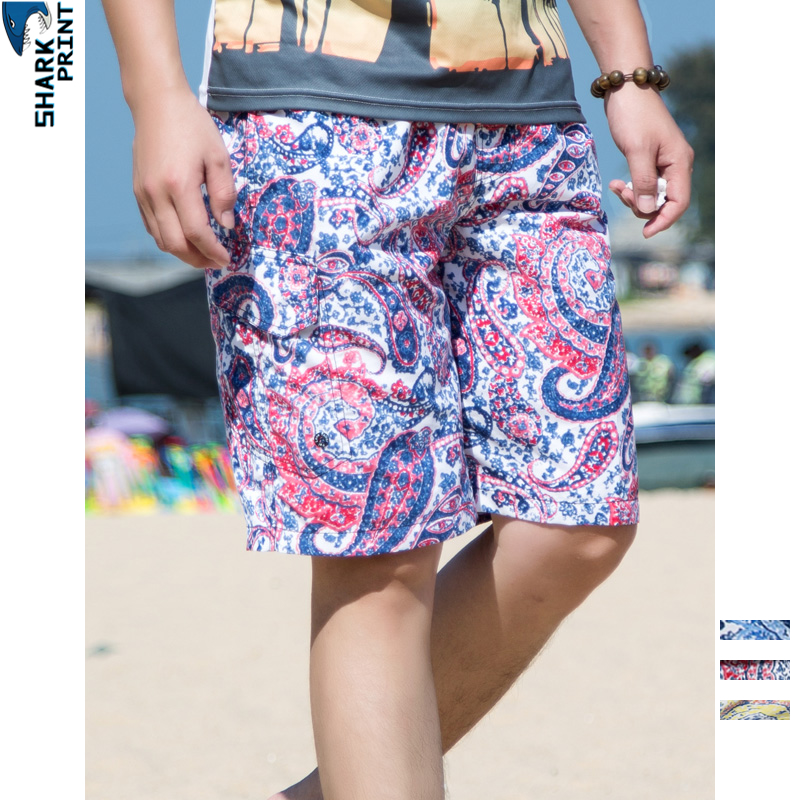 SharkPrint Fashion Quick Dry   Board     Shorts   Swimming Trunks Beach   Shorts   Men Swimwear Spartan Summer Casual Stripe Costume Clothes