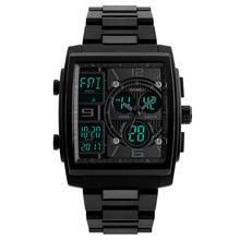 Fashion Square Dial Analog sport watch Digital Backlight Alarm Waterproof Men Wrist Watch relogio  New Arrival все цены