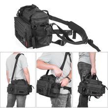 Multifunctional Waterproof Fishing  Bag Outdoor Waist Shoulder Bag Case Reel Lure Storage Bag Fishing Tackle
