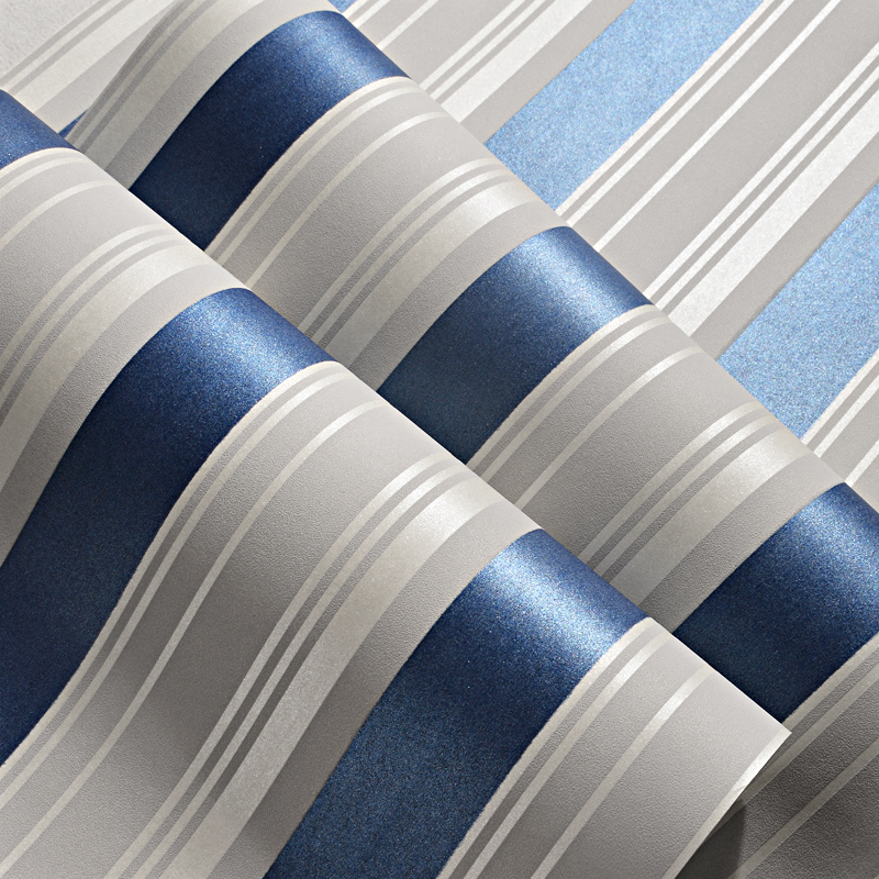 Blue Stripe Baby Boys Bedroom Wallpaper 5 M Roll Self Adhesive Kids Rooms Peel And Stick Wall Paper Child Papel De Parede Ez032