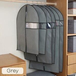 Image 3 - בגדי אבק כיסוי שאינו ארוג בד מקרה עבור ביתי תליית סוג מעיל חליפת להגן אחסון תיק בגדים ארגונית AQ065