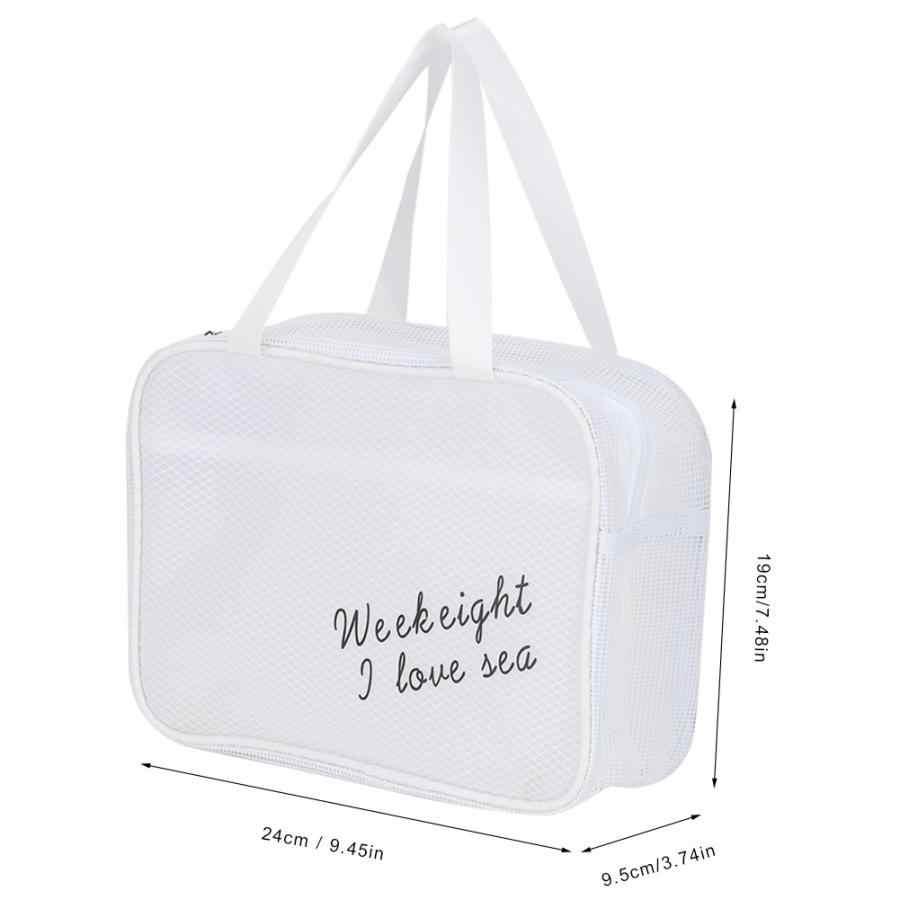 Semi-Clear Toiletry Bag Travel Makeup Pouch Sundry Bag Cosmetics Oraganizer Storage Bag