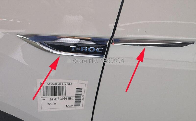 Für 2018 2019 VW T-ROC TROC original tür Seitenflügel Fender Emblem Abzeichen aufkleber Trim