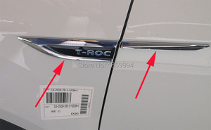 Image 1 - for 2018 2019 2020 VW T ROC TROC original door Side Wing Fender Emblem Badge sticker Trim