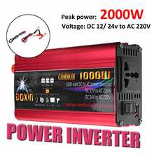 2000W Car Inverter 12 220 Auto Power Inverter Charger Converter Adapter USB Plug Port Modified Sine Wave DC 12V 24V To AC 220V(China)
