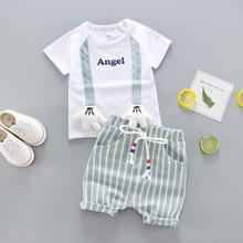 Summer Baby Boys Clothes Cute Cotton Kids Clothes Set Kids Short Sleeve+Shorts Suits Children's Boys Clothing Sets цена 2017