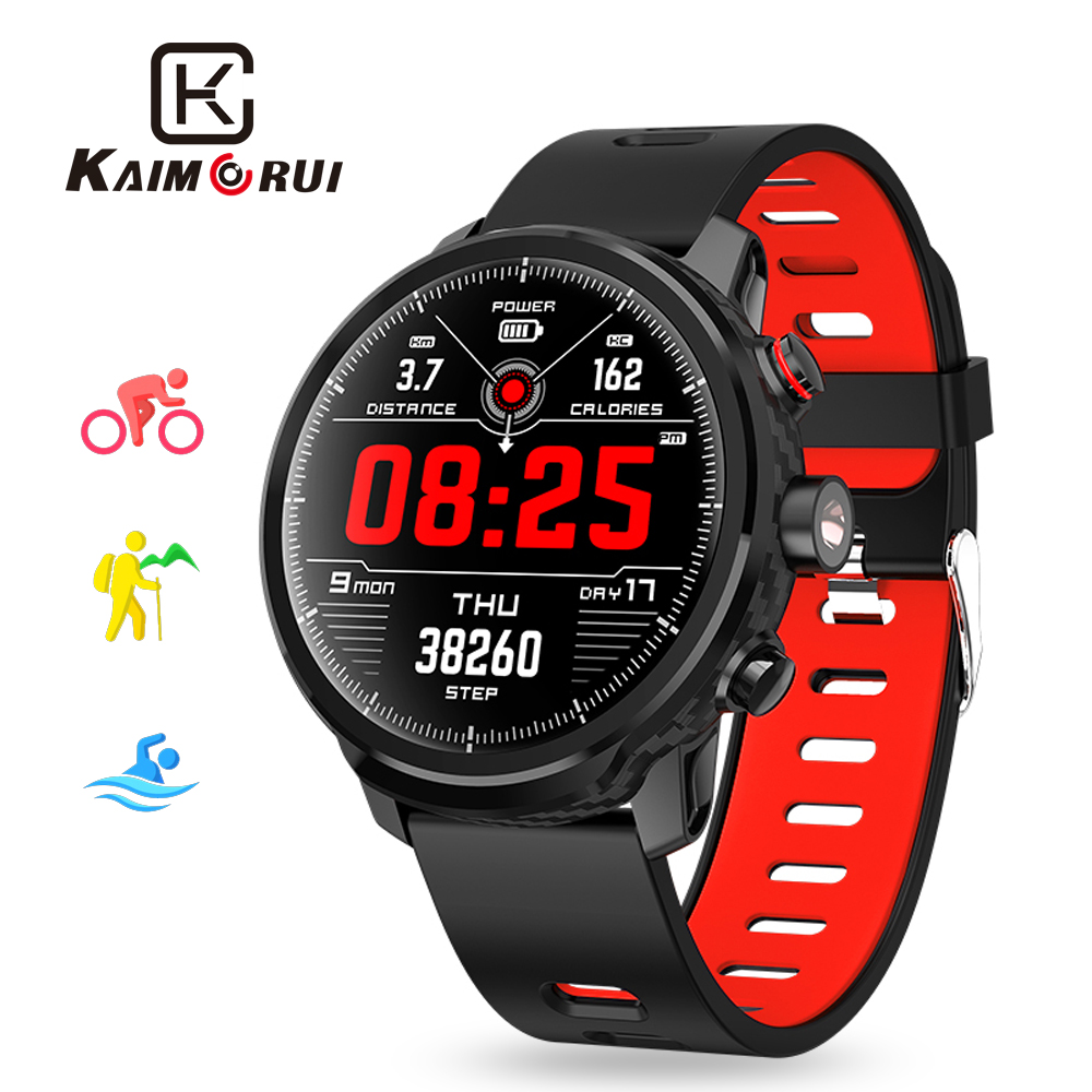 Kaimorui L5 Smart Watch Men IP68 Waterproof Multiple Sports Mode Heart Rate Monitor Weather Forecast for Android and IOS Phone image