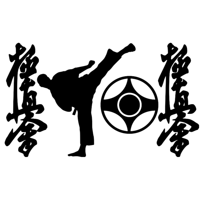 12*20cm Symbols Of Karate Cool Graphics Funny Car Sticker And Decal Vinyl Auto Styling Stickers