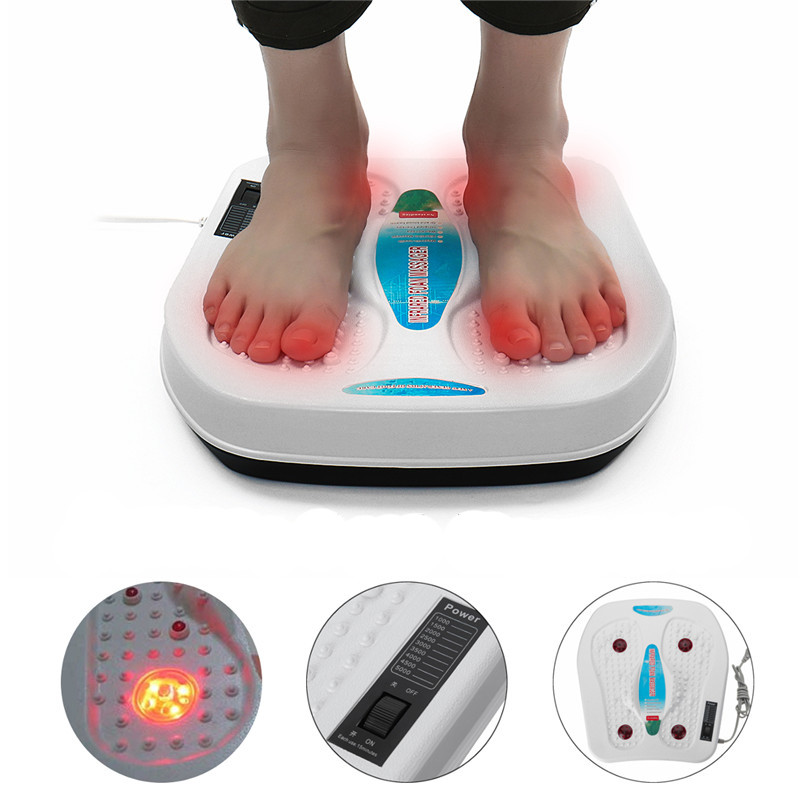 220V Electric Vibrator Relxation Foot Massager Infrared Acupuncture Heat Therapy Relaxing Fatigue Kneading Massager Health Care