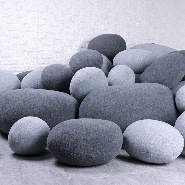 Stone Floor Pillows Stuffed Huge Stone Pillows Floor Cushions Floor Pillow For Kids Living Room Decor Stone Pouf Home Decor Rock