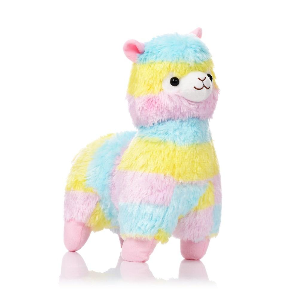 Entertainment Earnest Kawaii Rainbow Alpaca Plush Sheep Toy Japanese Soft Plush Alpacasso Stuffed Animals Lovely Gifts Toys For Kids Girls Board Game Elegant Shape