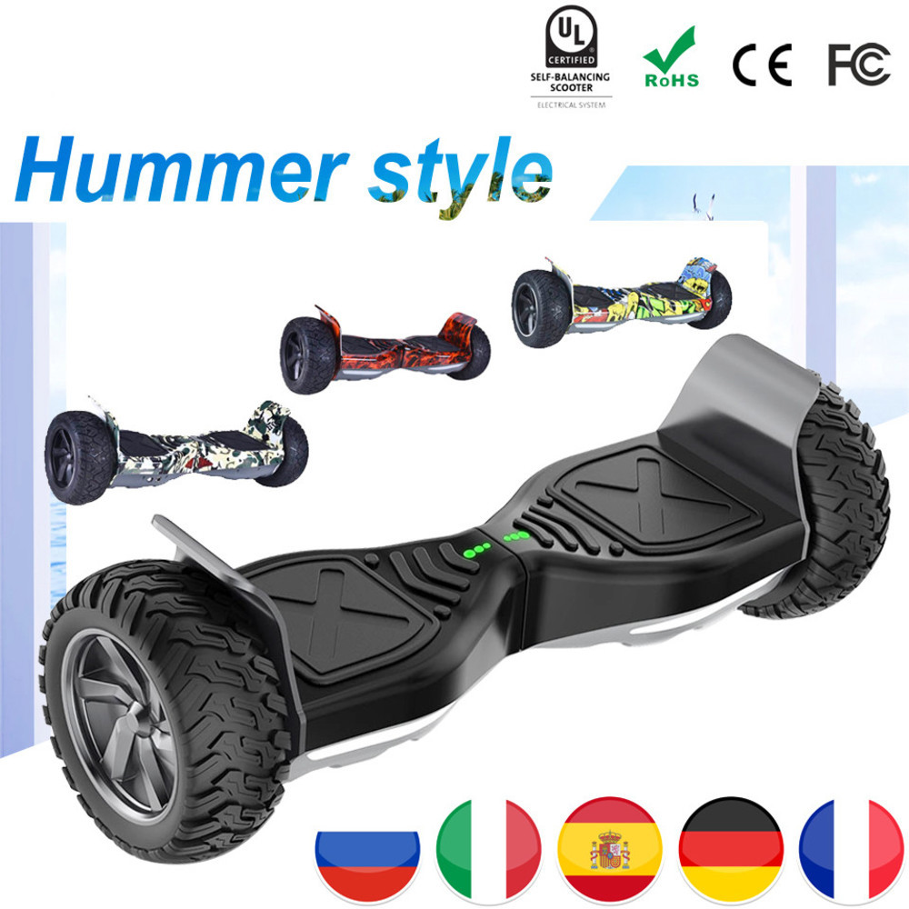 Eu Off Road Hoverboard Hummer 8.5 Inch Gyropode Hoverboard Scooter Electric Skateboard Overboard Haveboards Tas Remote Bluetooth