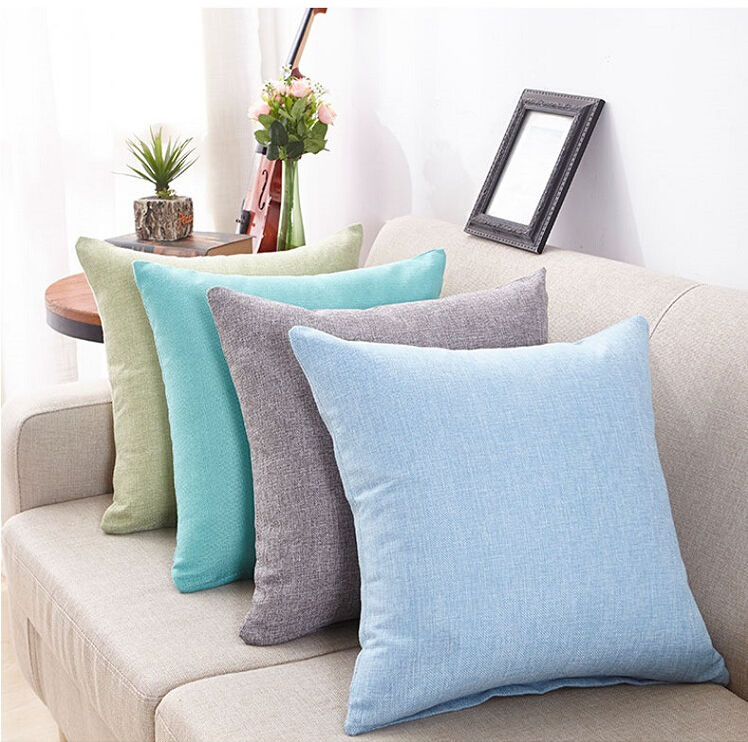 Cushion Tailored 45x45cm Cotton Soft Multicolor New Edge-Poly Home-Decor Choice European