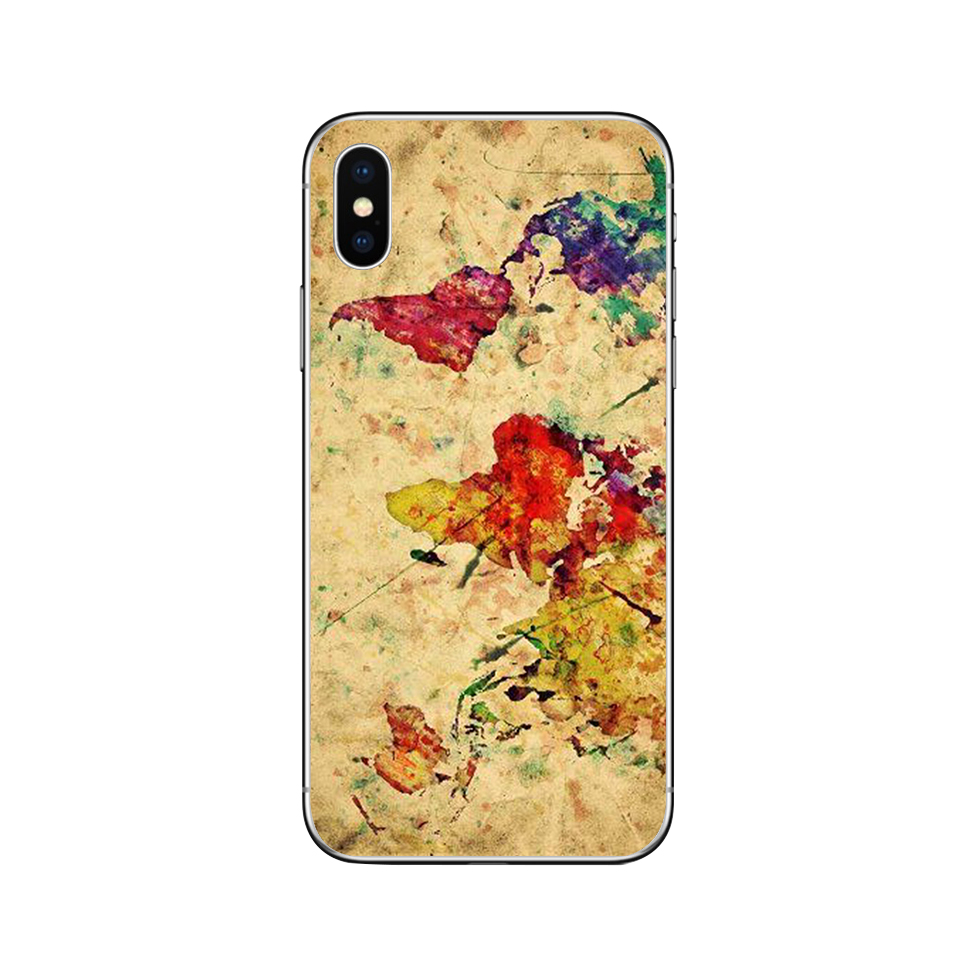 Image 4 - ciciber World Map Travel Phone Cases for Iphone 11 Pro XR XS MAX X Case for Iphone 7 8 6 6S Plus 5S SE Silicone Cover Funda Capa-in Fitted Cases from Cellphones & Telecommunications