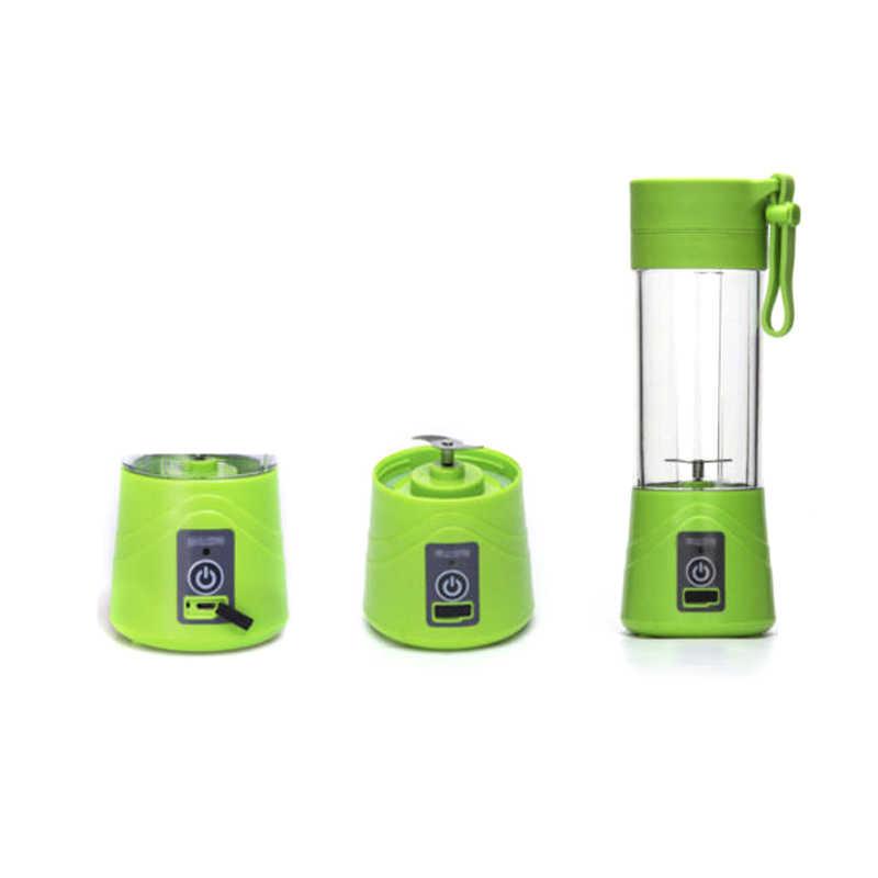 Liquidificador misturador juicer blender juice criador 2 lâminas de Mistura Portátil Recarregável USB Mini Máquina de Suco de Liquidificador