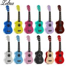 12 Цветов 21 «Сопрано укулеле липа нейлон 4 Strings Guitarra акустического бас-гитара Музыкальные струнный инструмент для начинающих