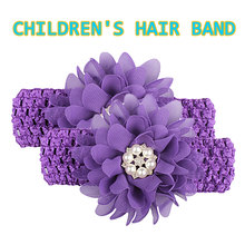 цена на Fashion Children Girls Chiffon Flower Lace Hair Head Band Baby Newborn Hair Rope Headband Headwear Headwrap