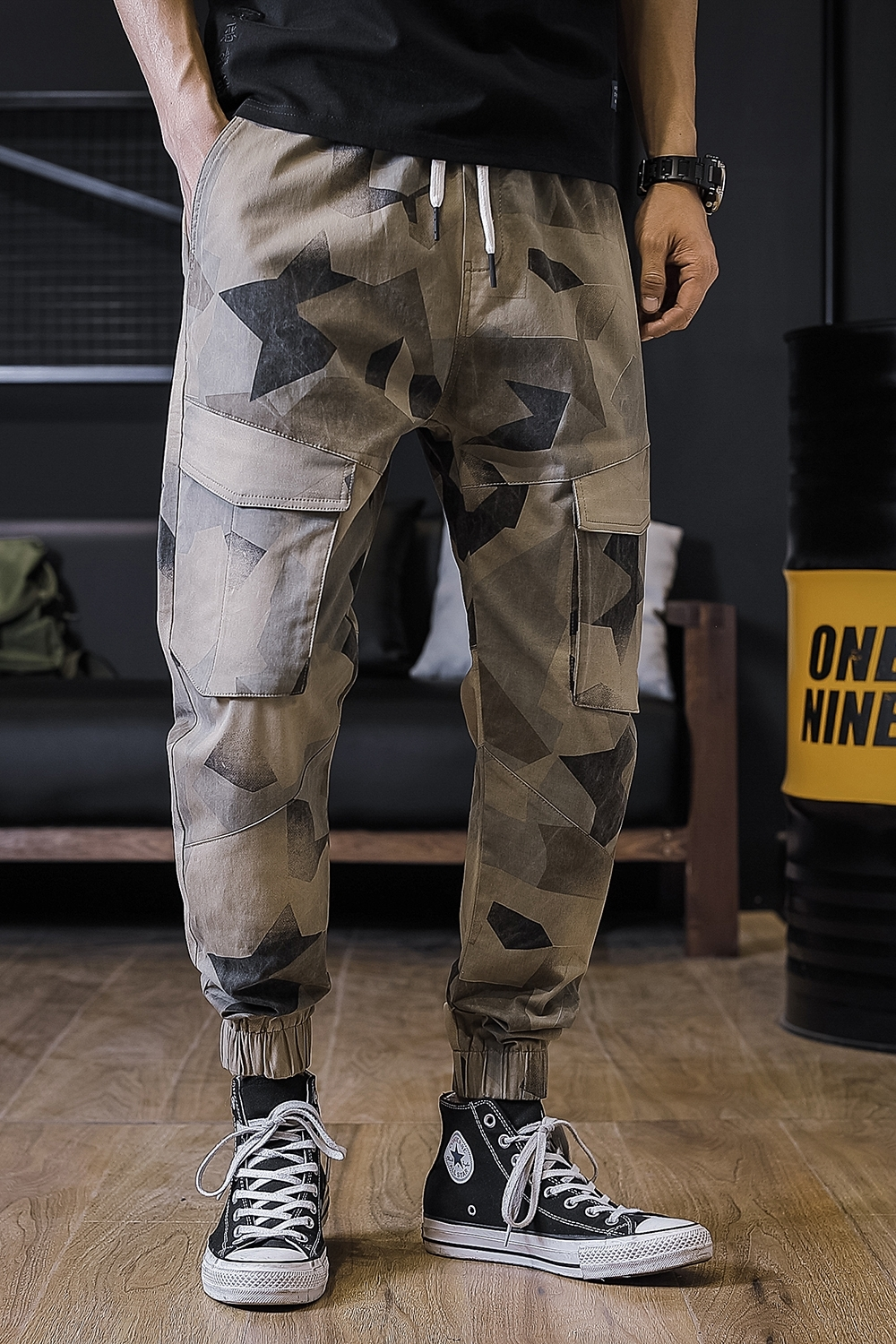2019 New Pattern cargo Pants tactical trousers men Fashion Joker Printing Camouflage joggers Bound Feet Pants Free shipping in Cargo Pants from Men 39 s Clothing