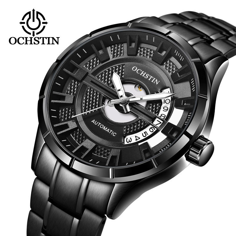 2018 OCHSTIN New Men'S Mechanical Watch Automatic Waterproof Watch Leather Belt Business Fashion Casual Sports Watch wu s 2018 new leather belt watch men s casual waterproof simple watch machinery factory wholesale