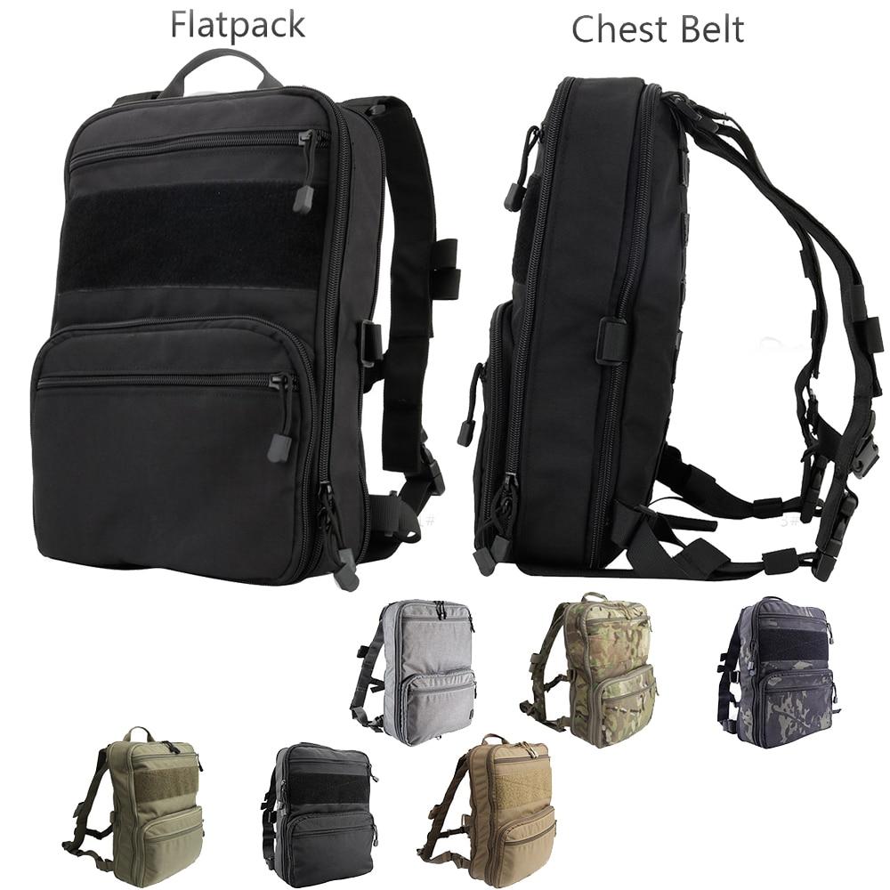 Flatpack D3 sac à dos tactique sac d'hydratation poche Molle Airsoft équipement militaire gilet polyvalent sac à dos d'assaut sac de voyage
