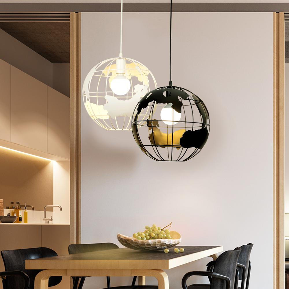 ZHAOKE Modern Global Earth Pendant Lights suspension luminaire for Living Room Restaurant Home Lighting Fixtures pendant lamps-in Pendant Lights from Lights & Lighting