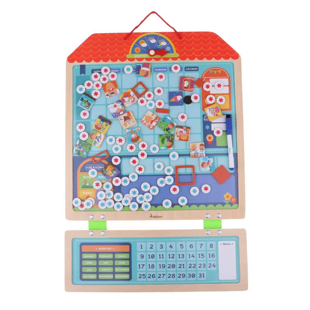 Conseil de responsabilité de récompense magnétique en bois avec des anniversaires de saison météo cadeau jouets éducatifs pour enfants enfants