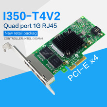 Сетевой адаптер FANMI, 4 портовый гигабитный Ethernet, PCI Express X4, intel I350AM4, сетевой адаптер