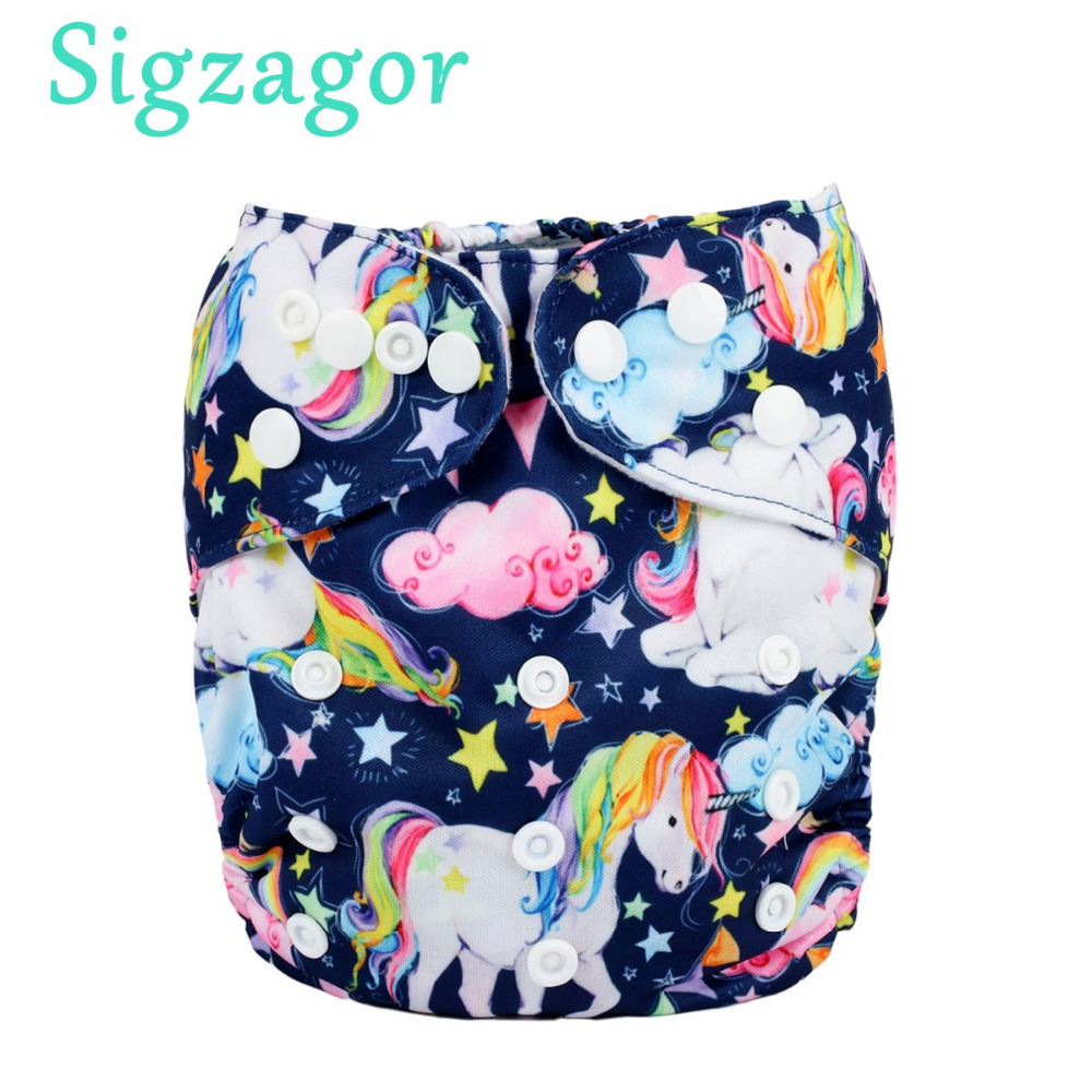 1 Baby Cloth Diaper Nappy Reusable Washable Pocket Merry Christmas Gift