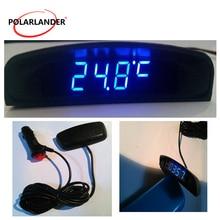 Interior Temperature Meter Voltmeter 3 In 1 Car Auto Digital