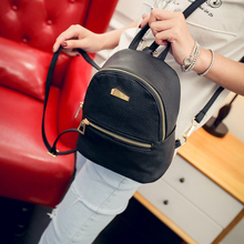 Casual Pu Small Backpack Women Candy Color Schoolbags For Teen Girl Fashion Travel Cute Bookbags Chic Daypack
