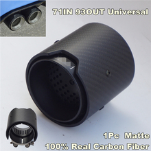 1 Piece Matte Carbon Fiber Exhaust tip 71MM INLET OD 93MM OUTLET For BMW M Performance
