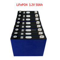 8PCS/Lot 3.2V 50Ah LiFePO4 Max Continuous 150A Discharge For 24V E Scooter Golf Cart Electric Wheelchair