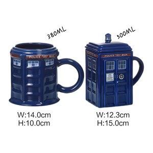 Image 2 - Taza de tazón Taza de cerámica con tapa para taza de té y café, regalo creativo divertido, regalos de Navidad para niños
