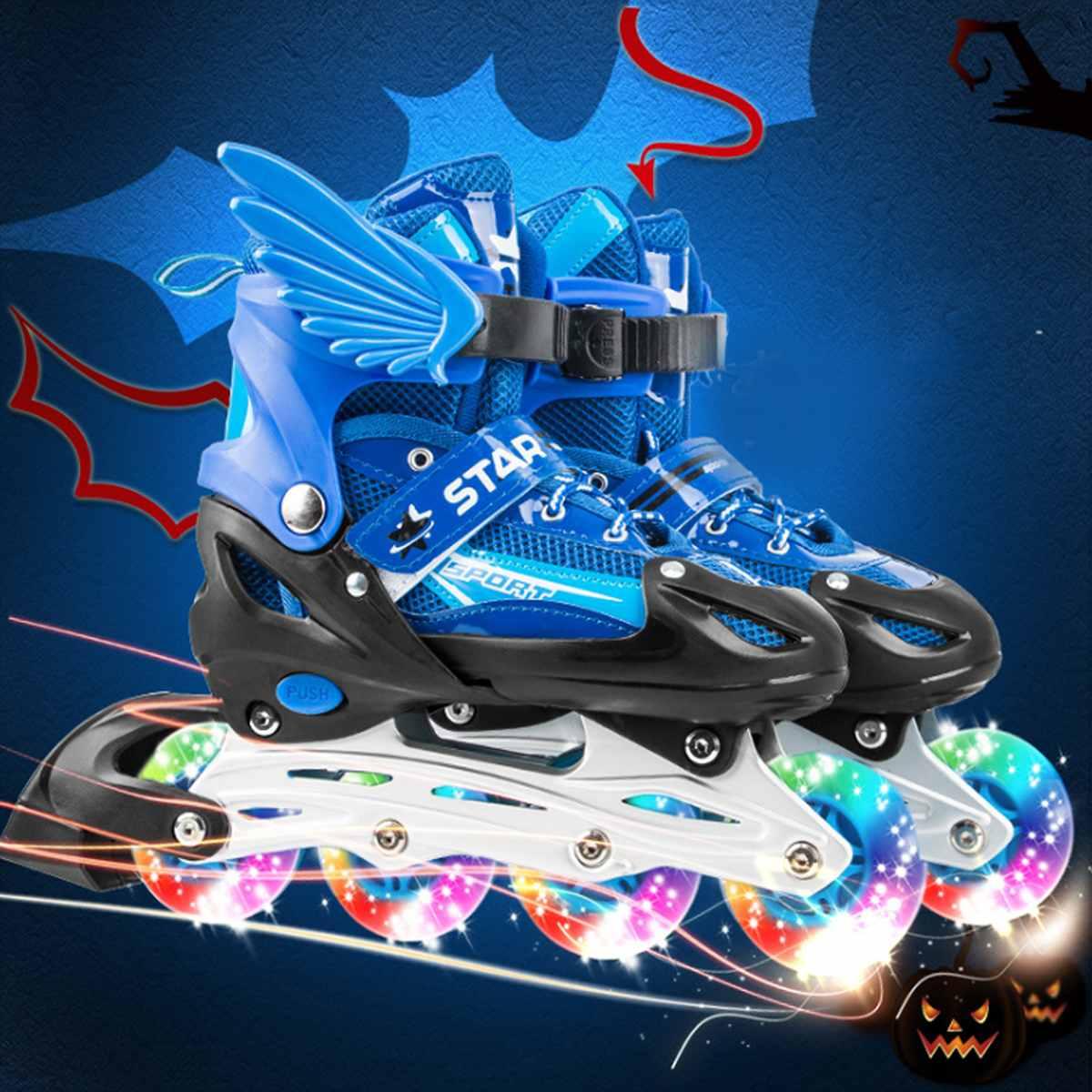 Patins à roulettes patins à roues alignées avec 4 roues chaussures de patinage à roulettes pour enfants filles garçons cadeaux