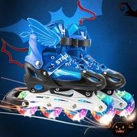 Roller Skates Inline Roller Blade Skates with 4 Wheels Kid's Roller Skating Shoes Sliding for Children Girls Boys Gifts