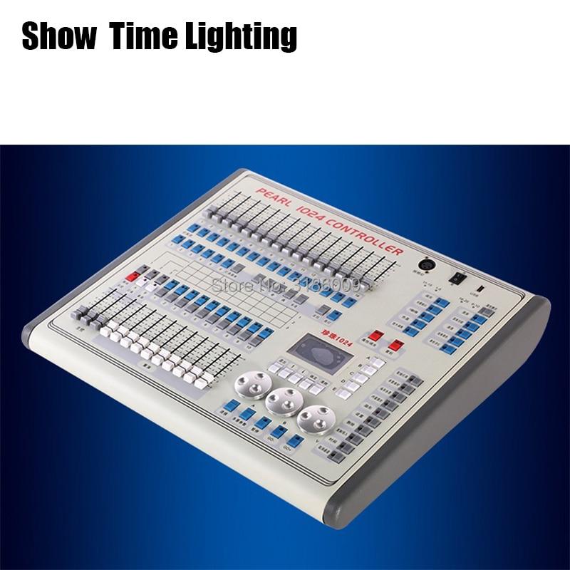 Mostrar tiempo mini pearl 1024 DMX controlador de luz de escenario DMX consola para XLR-3 led par haz cabeza móvil luz para escenario DJ efecto de luz Lámpara de mesa de madera nórdica, modernas lámparas de noche para dormitorio, mesa, decoración para habitación de niños, lámpara de iluminación, luminarias de aparato de madera