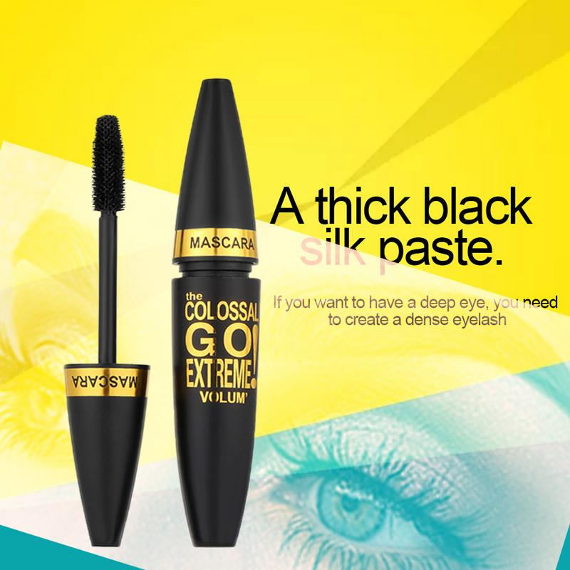 Mascara Silicone Brush Mascara Waterproof Eye Makeup Cosmetics Not Blooming Long lasting Thick Beauty Products Make Up Natural in Mascara from Beauty Health