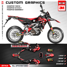 Kungfu Grafische Custom Mx Decals Kit Fit Aprilia Sxv Rxv 450 550 2006 2007 2008 2009 2010 2011 2012 2013 \u0028Stijl Geen. APXV0613003\u0029