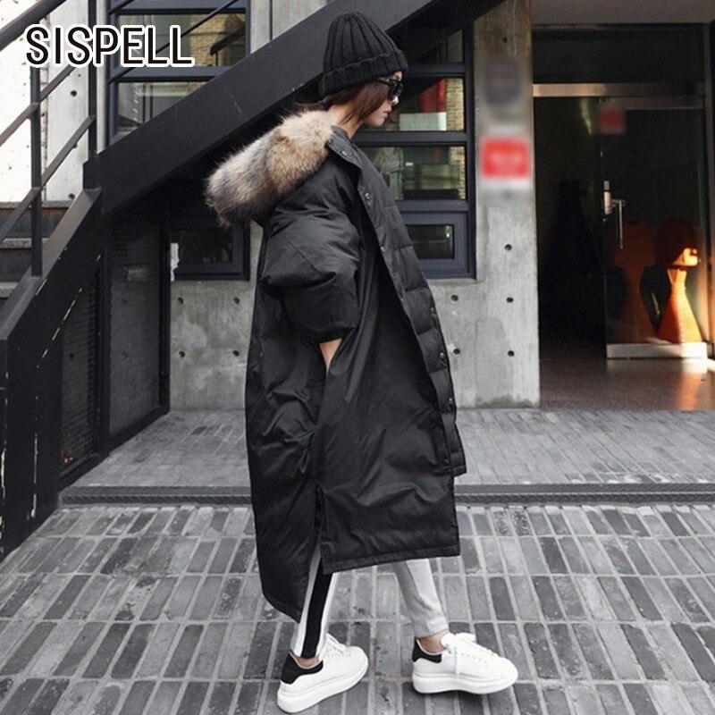 SISPELL Women's Hooded Winter   Trench   Long Bat Sleeve Single Breasted Female Casual Elegant Coats For Women Winter New 2018